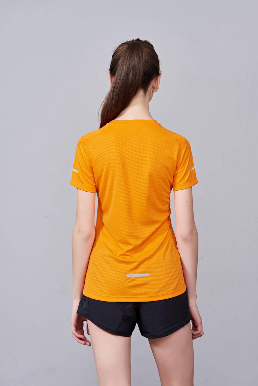 2020最新款短袖运动t恤衫 潮 圆领套头 橘色