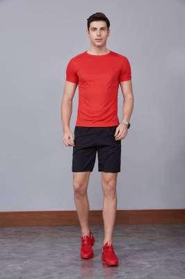 2020最新款短袖运动t恤衫 潮 圆领套头 红色