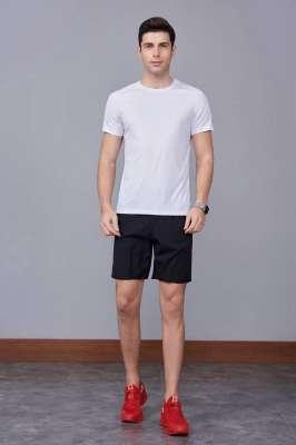2020最新款短袖运动t恤衫  潮  圆领套头 白色