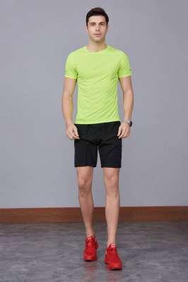 2020最新款短袖运动t恤衫  潮  圆领套头 果绿色