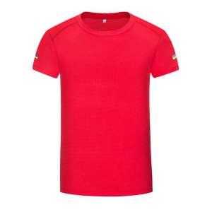 短袖t恤 男 圆领纯色红色潮流修身春夏季上衣