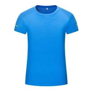 短袖t恤 女 圆领纯色湖蓝色潮流修身春夏季上衣