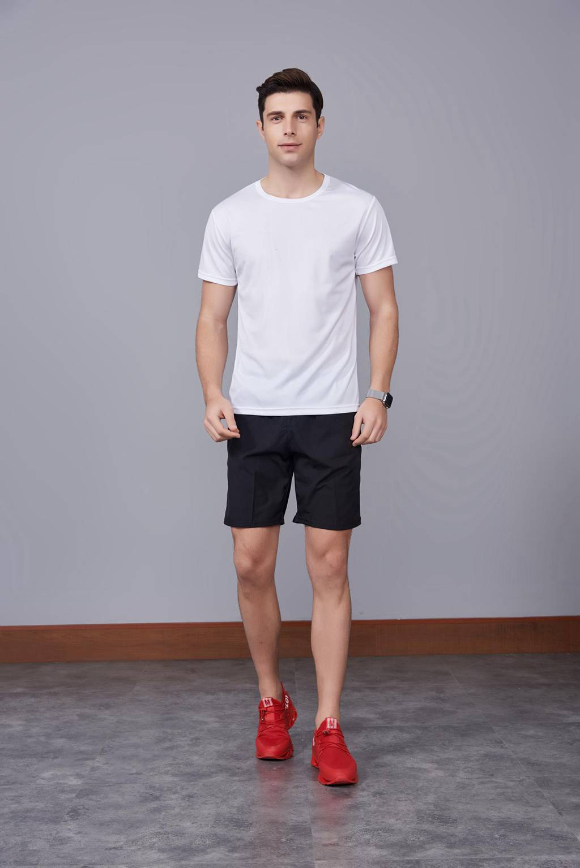 运动速干T恤 白色 2020春季新款宽松透气圆领舒适运动健身T恤