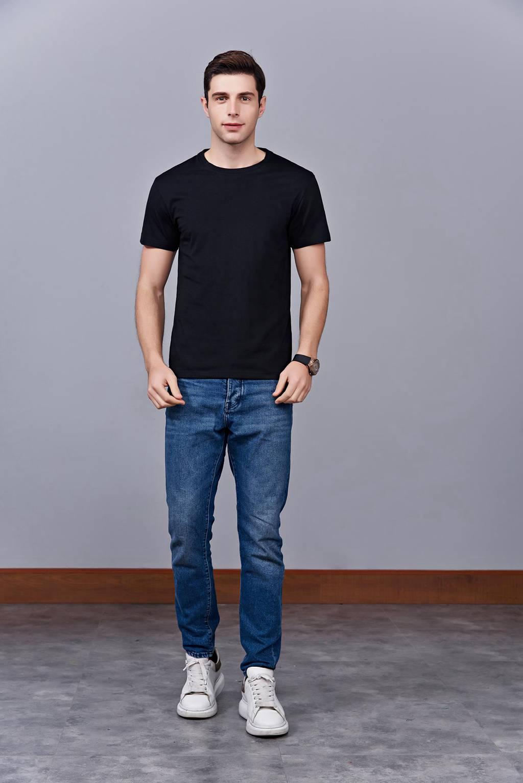 运动速干T恤 黑色 2020春季新款宽松透气圆领舒适运动健身T恤