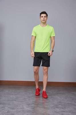 运动速干T恤 果绿色 2020春季新款宽松透气圆领舒适运动健身T恤