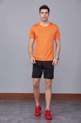 运动T恤 速干衣 橘色 2020春季新款宽松