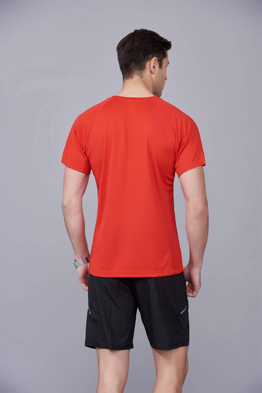 大红色 潮牌休闲t恤短袖修身个性圆领修身半袖打底衫2020新款