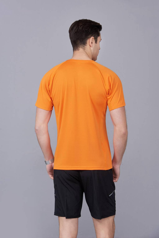 橘色 潮牌休闲t恤短袖修身个性圆领修身半袖打底衫2020新款