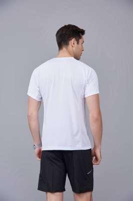 白色 潮牌休闲t恤短袖修身个性圆领修