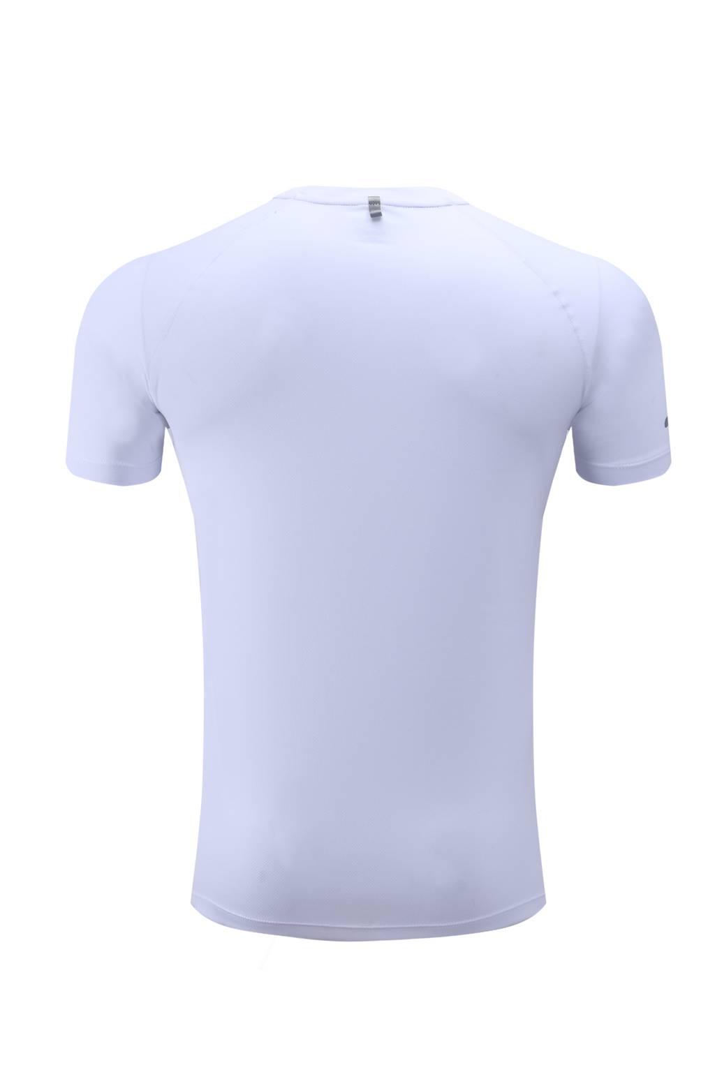 订做T恤衫  速干短袖T恤 春夏新品运动户外休闲 白色3D图示