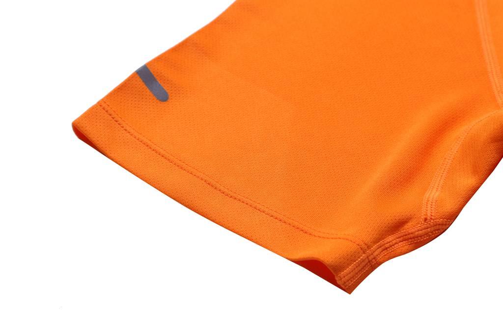 T恤订制  短袖2020新款休闲轻薄健身 运动上衣 橘色细节图