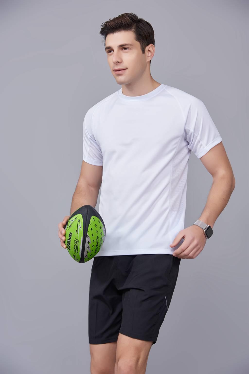 潮流T恤    2020新款短袖运动舒适速干衣 白色