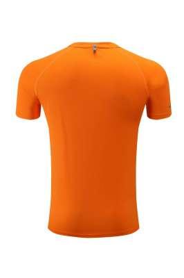 订做T恤衫  速干短袖T恤 春夏新品运动户外休闲 橘色3D图示