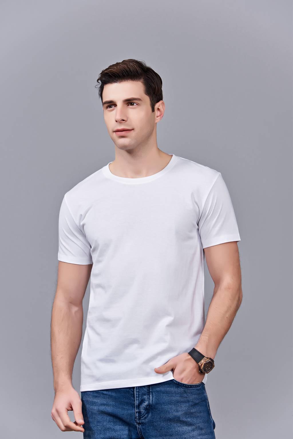 时尚新潮短袖上衣 白色 情侣款亲子款休闲T恤订制
