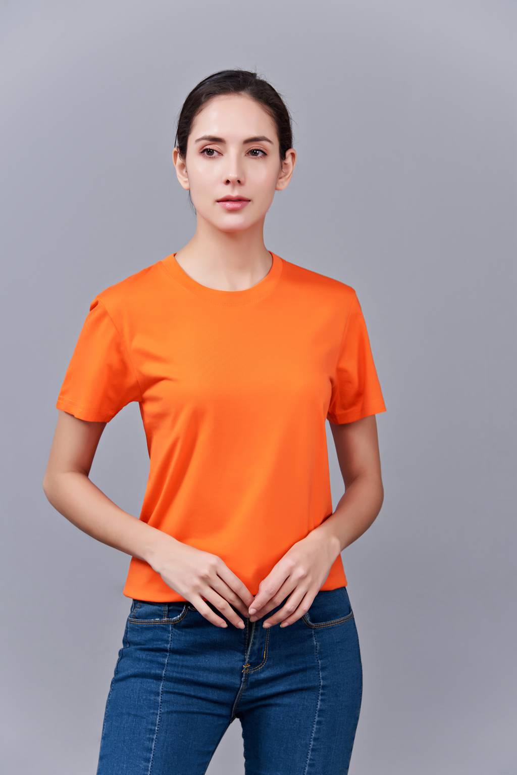 时尚新潮短袖上衣 橘侣款亲子款休闲T恤订制