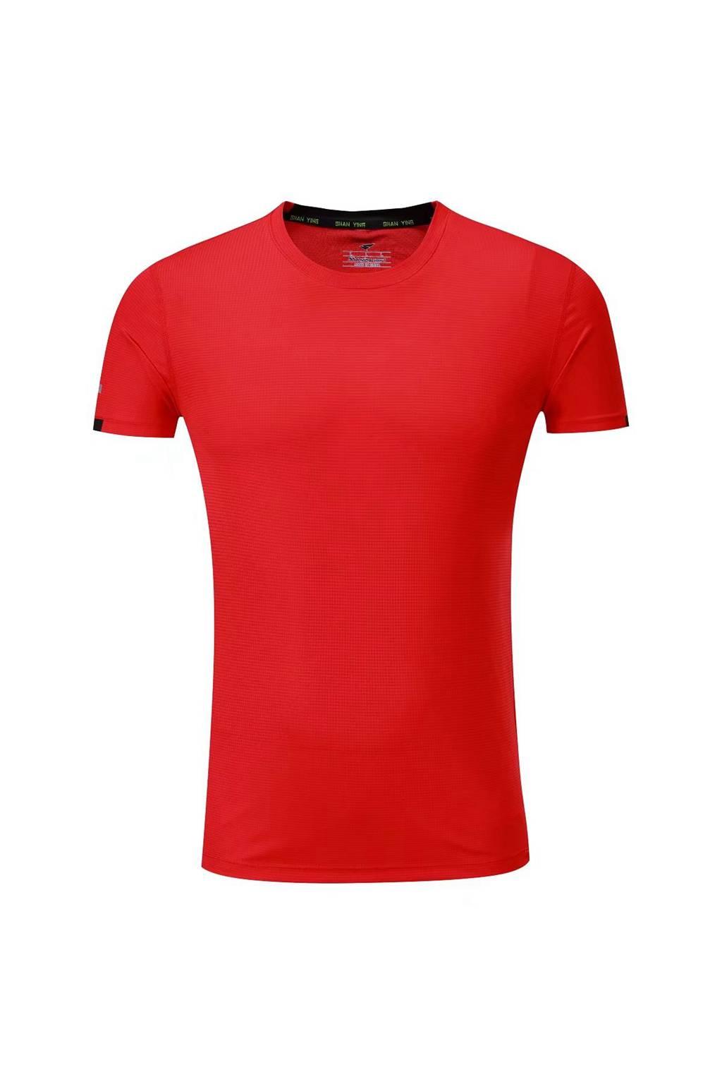 新款短袖T恤  纯色T恤半袖基础款 红色3D图