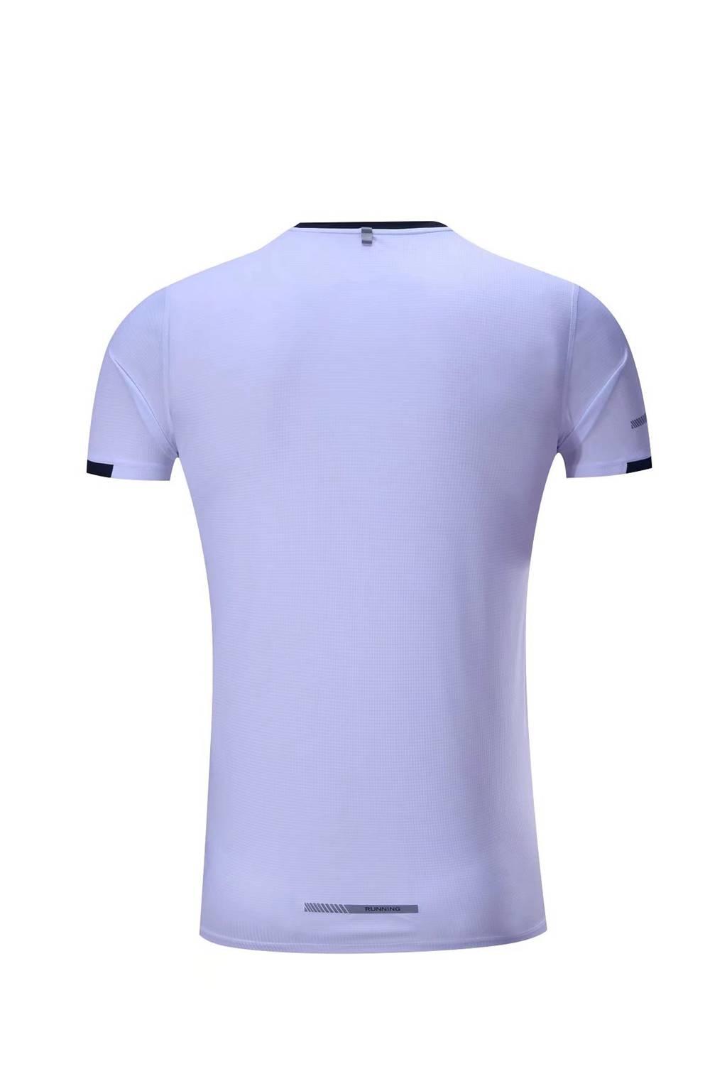 新款短袖T恤  纯色T恤半袖基础款 白色3D图