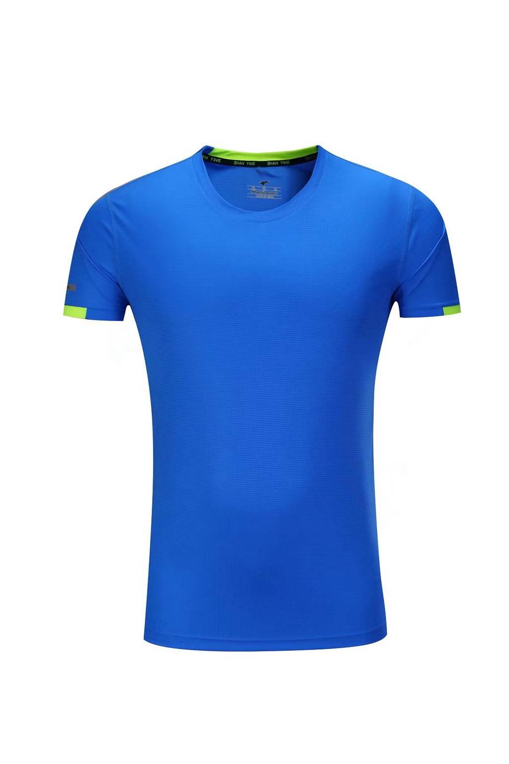 新款短袖T恤  纯色T恤半袖基础款 湖蓝色3D图