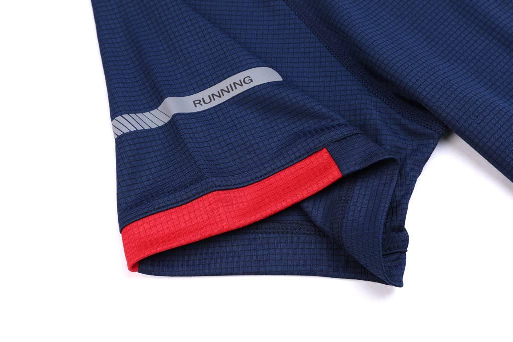 男装运动速干T恤 舒适快干弹力速干衣 藏青色细节