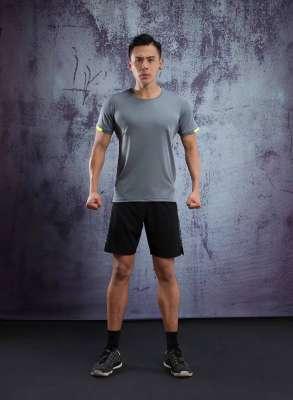 男士背心短袖 运动T恤弹力修身
