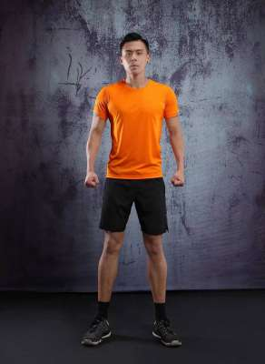 男士背心短袖 运动T恤弹力修身打底汗