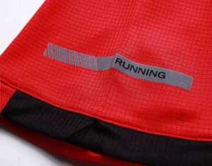 男装运动速干T恤 舒适快干弹力速干衣 红色细节